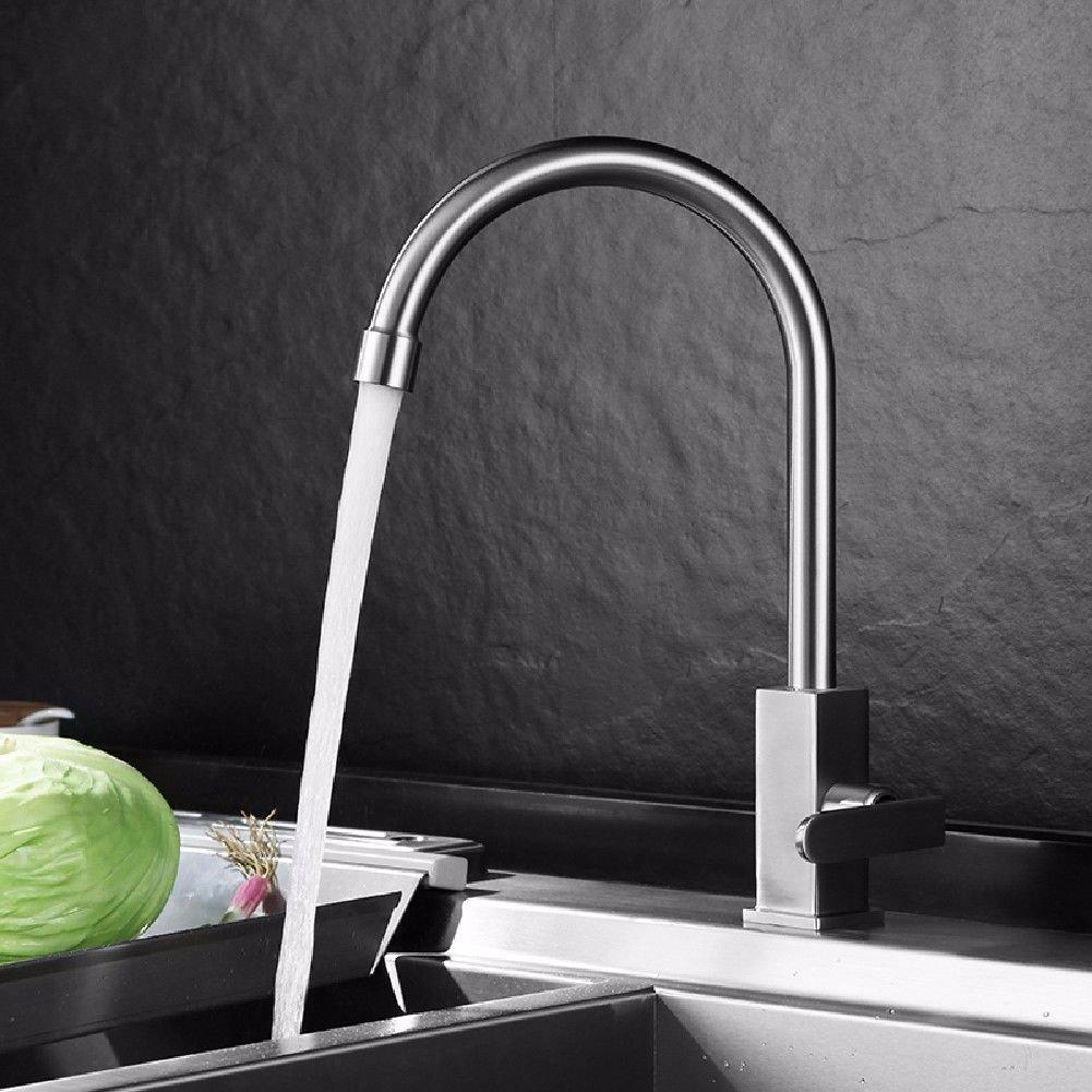 B Gyps Faucet Basin Mixer Tap Waterfall Faucet Antique Bathroom Mixer Bar Mixer Shower Set Tap antique bathroom faucet You can redate 304 stainless steel brushed kitchen dish basin sink taps A,Modern B