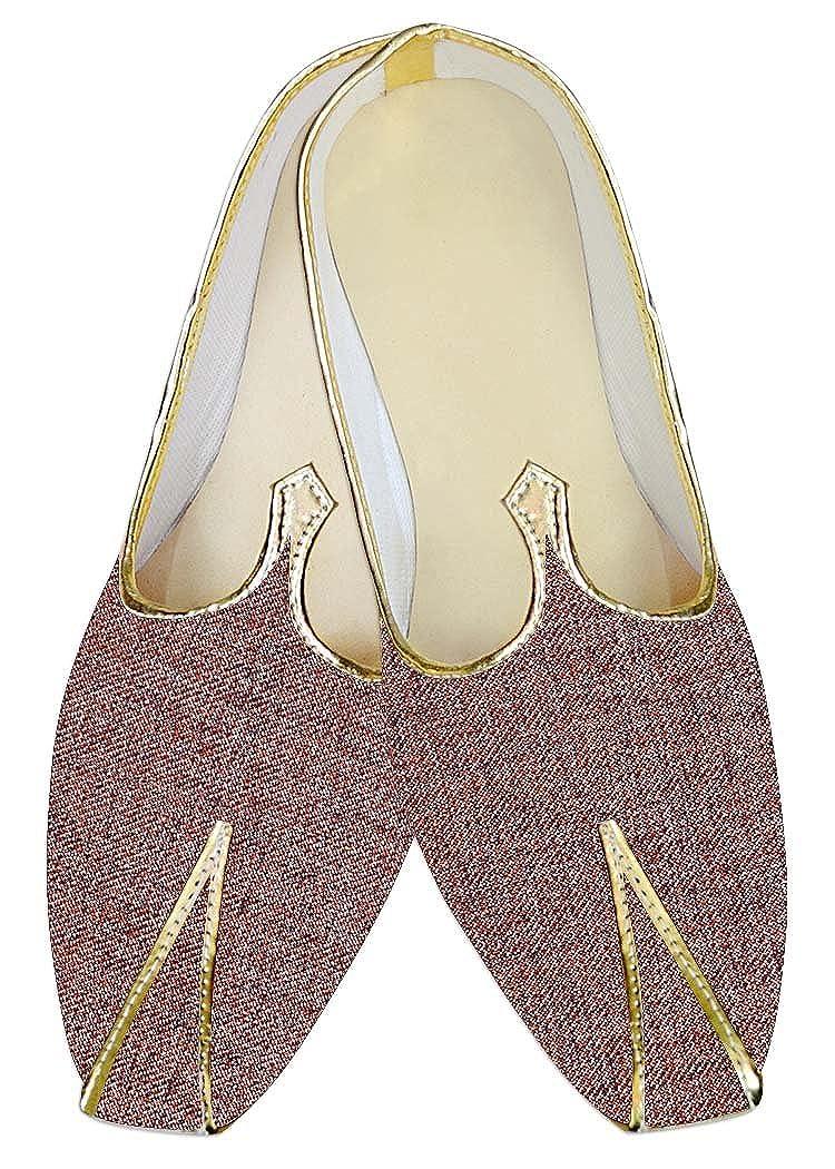 INMONARCH Poliéster de Yute Borgoña Hombres Zapatos de Boda MJ015376 47 EU