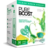 Pureboost Clean Energy Drink Mix with B12, 7 Organic Green Superfoods and Vitamins. Naturally flavored with Green Apple. No S