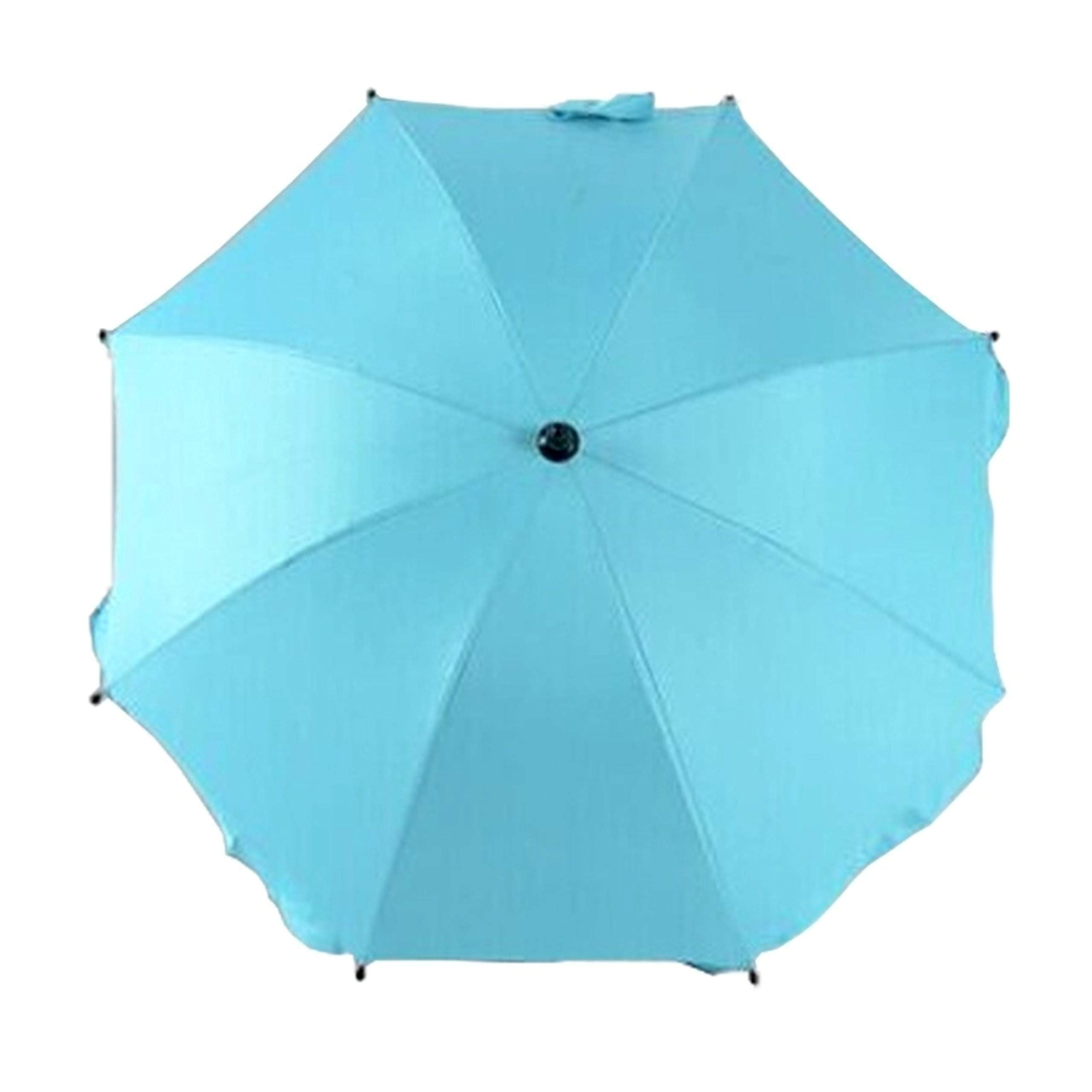 Adjustable Umbrella for Golf Carts, Baby Strollers/Prams and Wheelchairs to Provide Protection from Rain and The Sun(Azure)