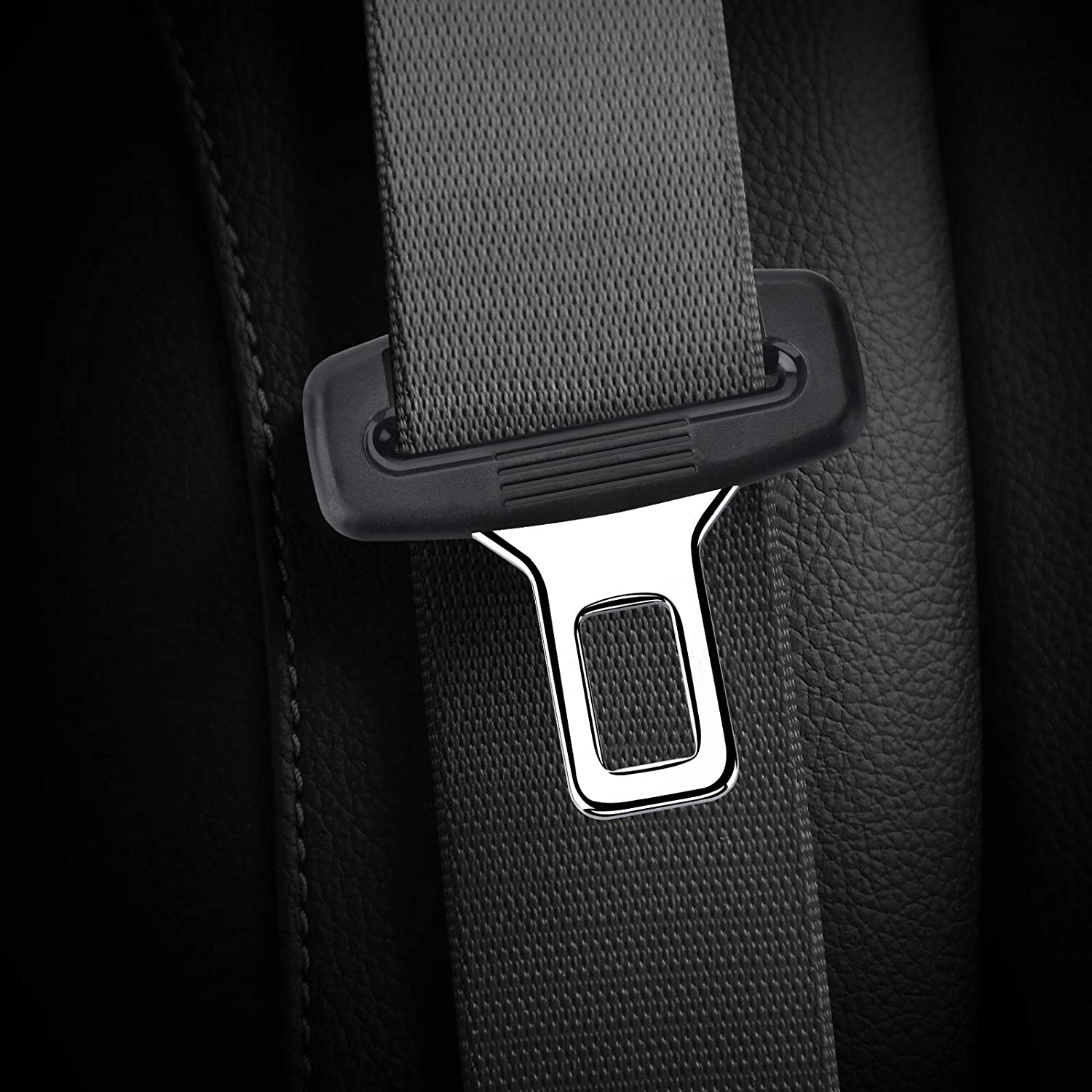 2 Pcs Car Seat Belt Clips Seat Belt Adjuster for Kids/&Adults Black Auto Metal Seat Belts Clips Universal for Most Vehicles