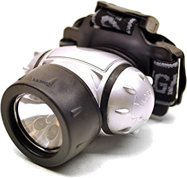 Miltec Head Lamp w// 3 LEDs and 1 Krypton Light