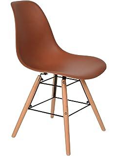 1 X Design Klassiker Stuhl Retro 50er Jahre Barstuhl Kchenstuhl Esszimmer Wohnzimmer Sitz In Braun Mit