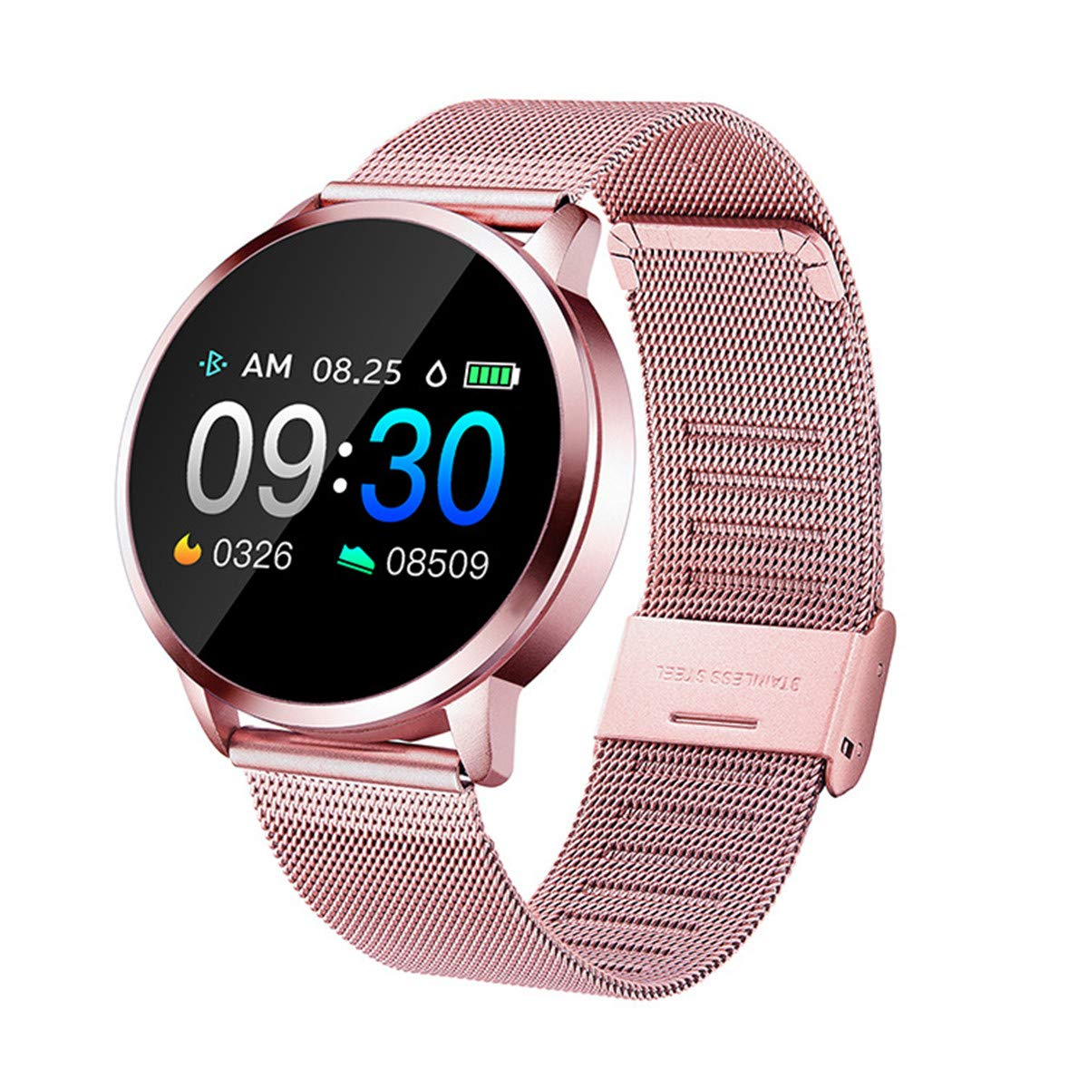 Smart Watch, Bluetooth Smartwatch for Women, Sports Fitness Tracker IP67 Waterproof with Heart Rate Blood Pressure Sleep Monitor Calorie Counter Pedometer for Smartphone(Pink)