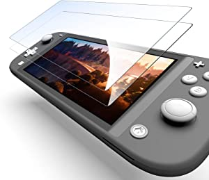 Screen Protector Tempered Glass for Nintendo Switch Lite 2019,Clear Anti-Scratch with Anti-Fingerprint Bubble-Free Fit(2 Pack)