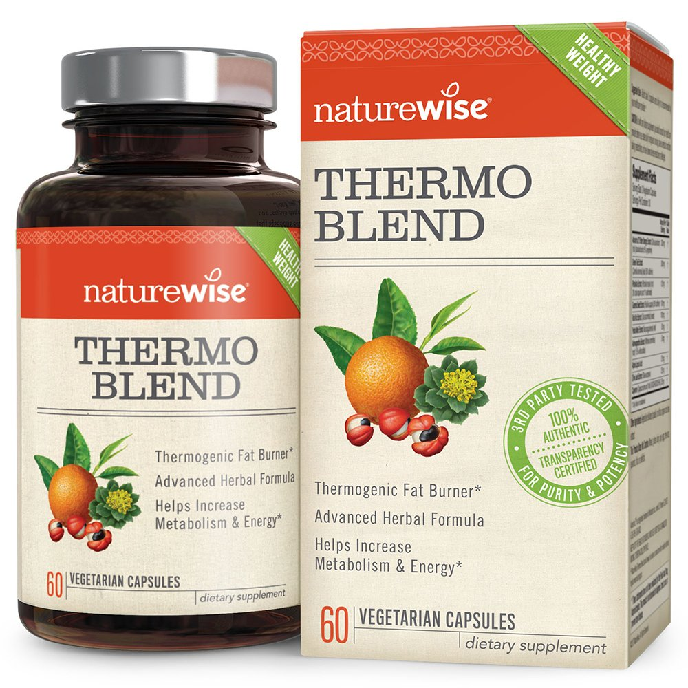NatureWise Thermo Blend Metabolism Booster — Natural Thermogenic Fat Burner, Appetite Suppressant & Weight Loss Pills for Men & Women with Green Tea Extract & Bitter Orange, Vegan & Gluten Free, 60 ct by NatureWise