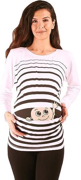 I Love You Premaman Abbigliamento Donna Magliette Premaman T-Shirt Divertente Gravidanza M.M.C Maniche Corte maternit/à