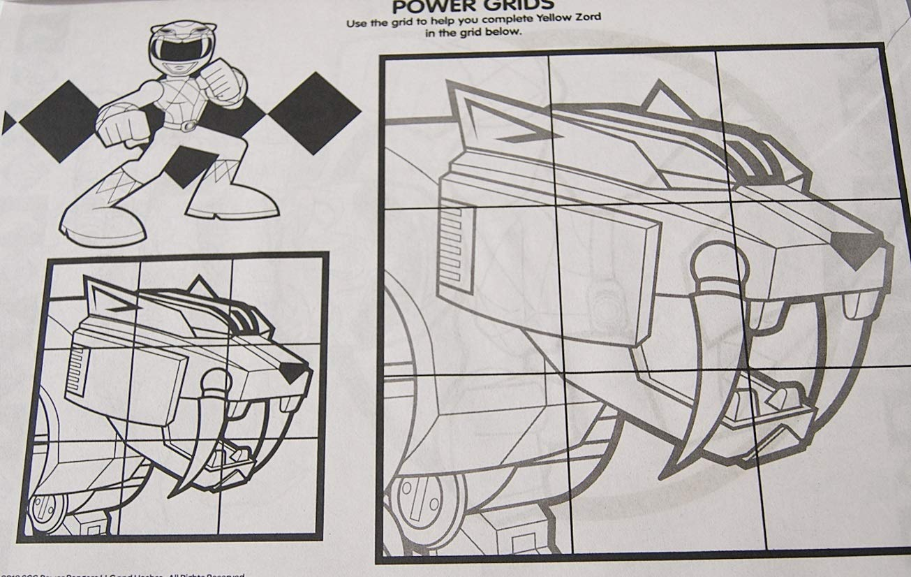 10.5 x 16 Inches Coloring Books Power Rangers Giant Coloring and Activity Book