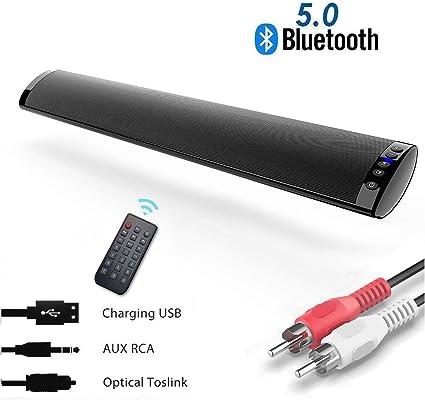 Barra de Sonido, Nueva Bluetooth 5.0, Profesional Sonido ...
