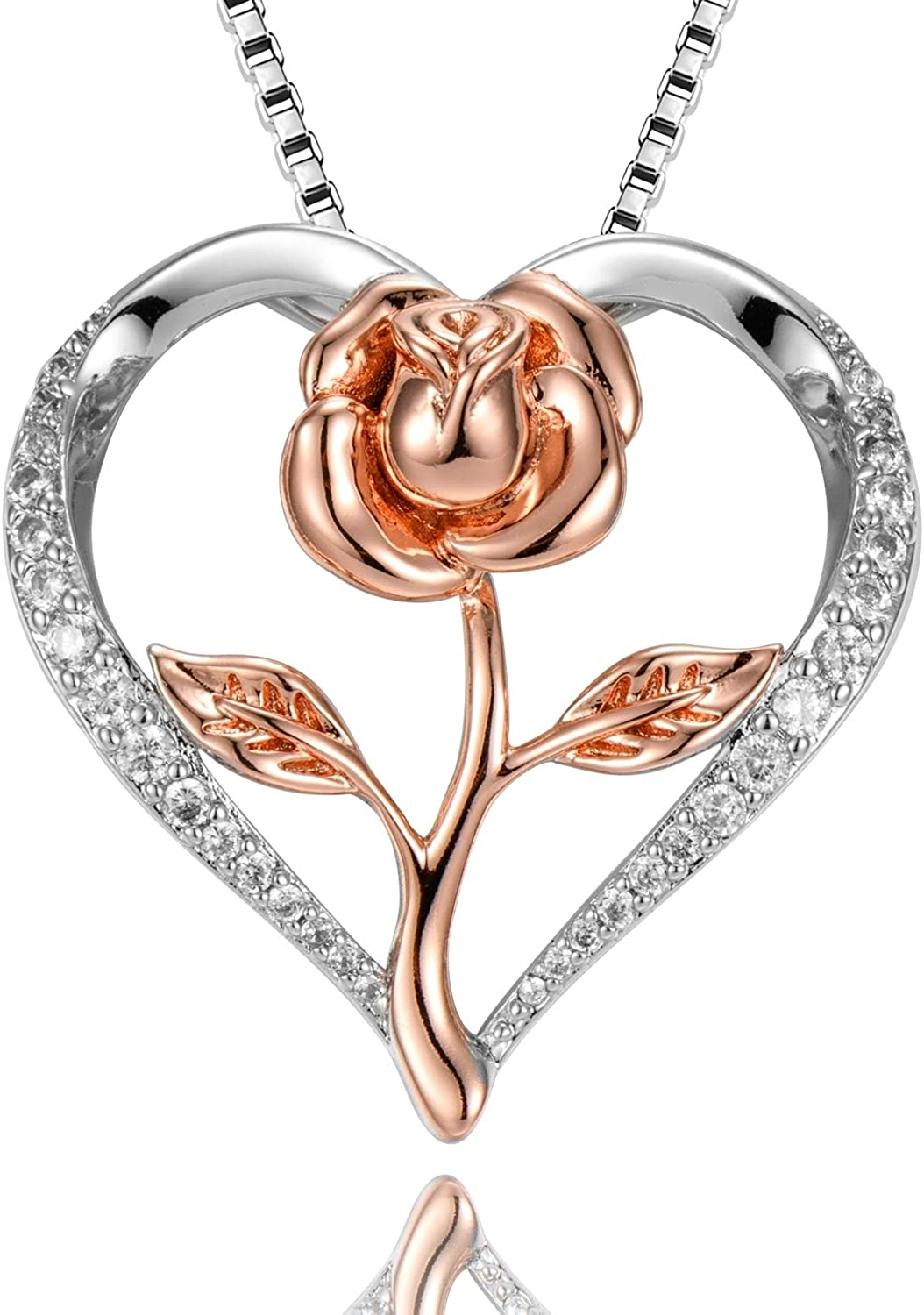 Charm Jewelry Mom Love Heart Crystal Pendant Necklace Mother/'s Day Gift With Box