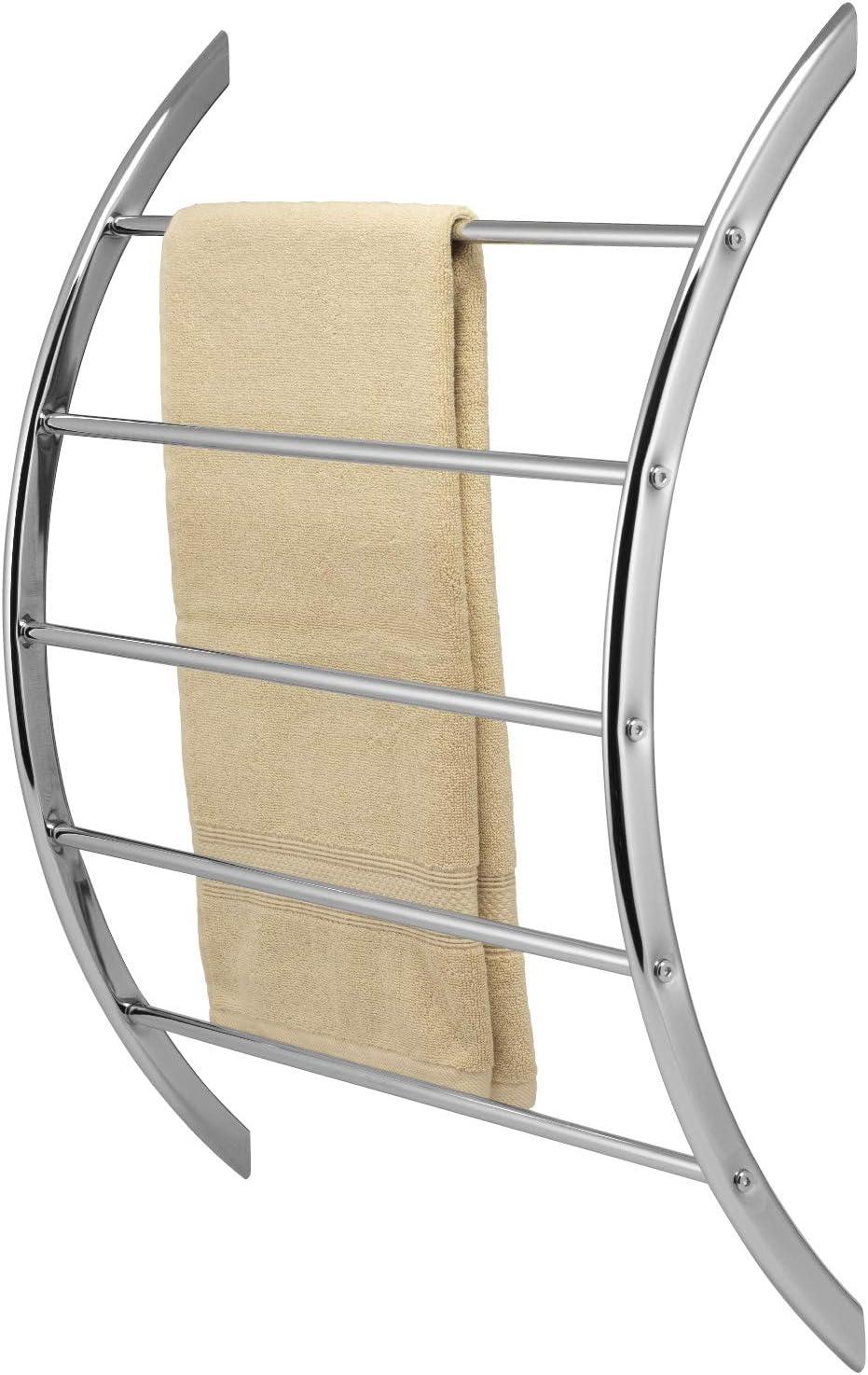 bremermann Handtuchhalter zur Wandmontage mit 5 Stangen aus Metall verchromt