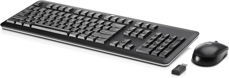 HP - Teclado (RF inalámbrico, PC/server, oficina, 1000 DPI, Laser, Rueda) Negro