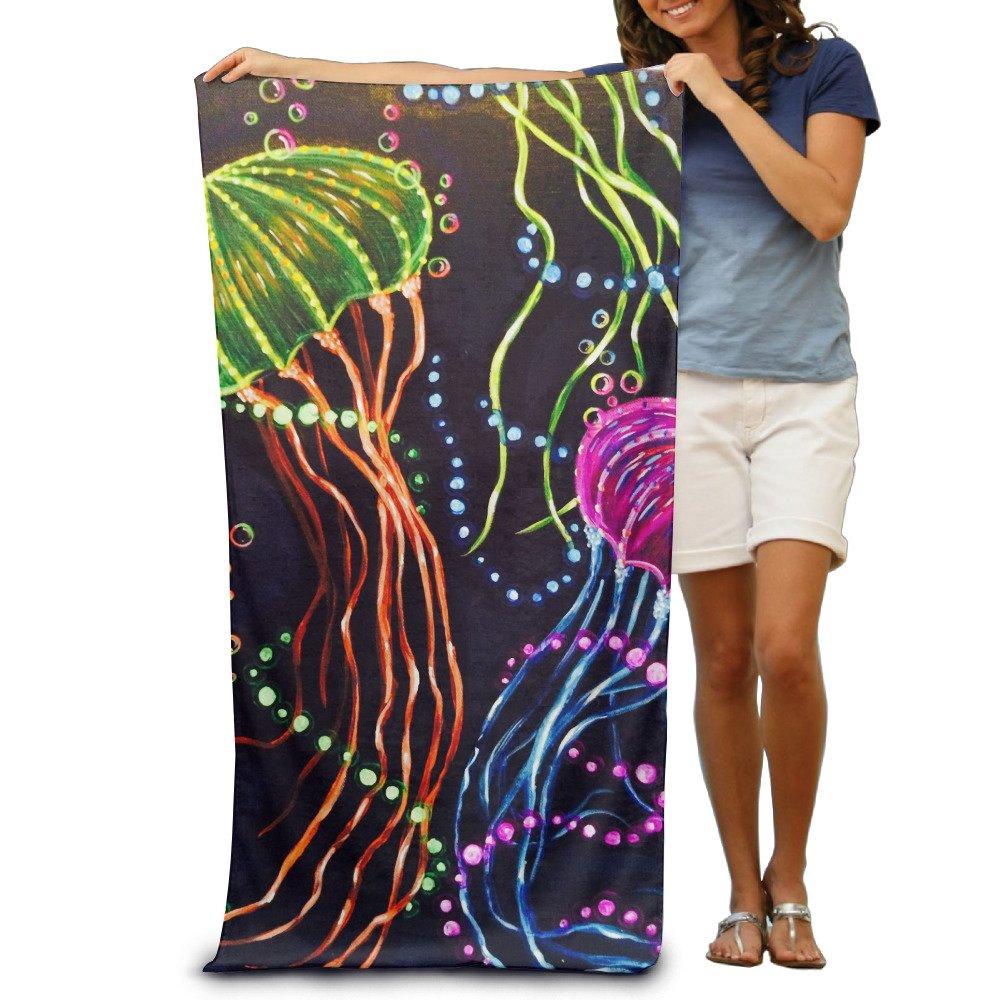 Jellyfish Dance In Dark Quick-drying Pool Beach Towel Travel Bath Towel For Adults