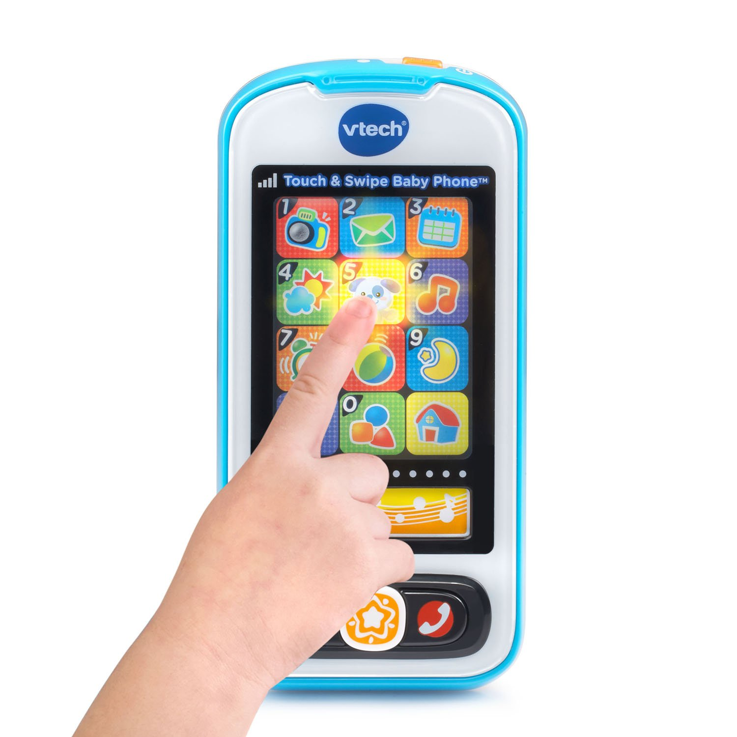 VTech Touch and Swipe Baby Phone, Blue by VTech (Image #2)