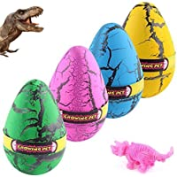 YKL WORLD Hatching Growing Dinosaur Toys, Magic 4 Pack Large Size Grow Dinosaurs Egg That Hatch in Water Easter Dino…
