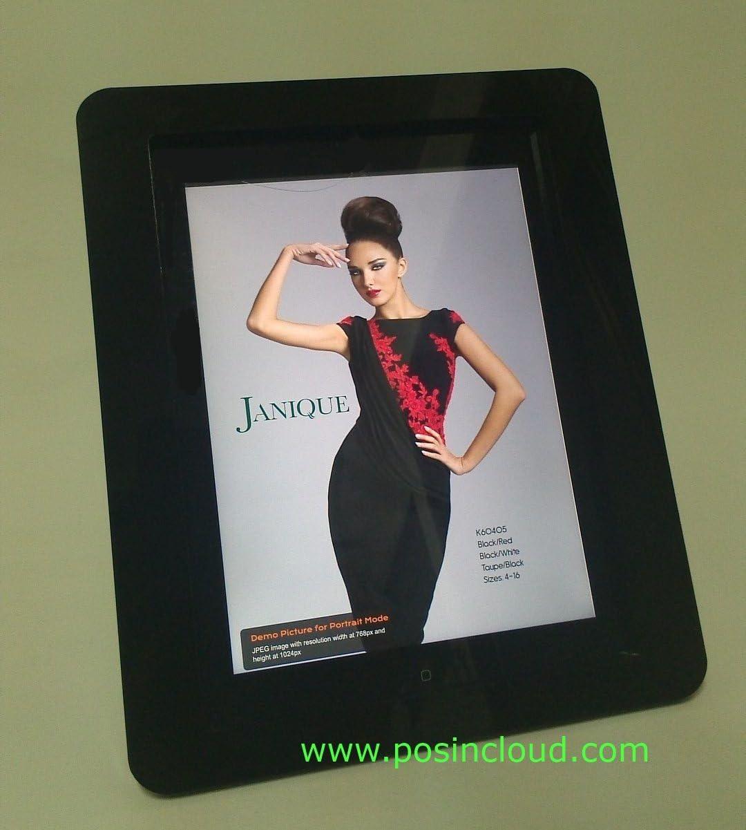 TABcare Compatible iPad Air VESA Mount Enclosure, Black Acrlyic Material for POS, Kiosk, Show Display, Store Display, Square Card Reader