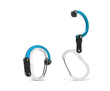 Review Heroclip Bag Hook Purse Stroller Clip Handbag Table Hanger Gadget (2 pack, Red)