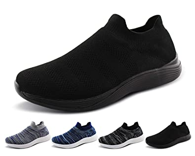 1ed6c15429f9a Jabasic Women Walking Athletic Shoes Breathable Casual Running Knit Slip on  Sneakers