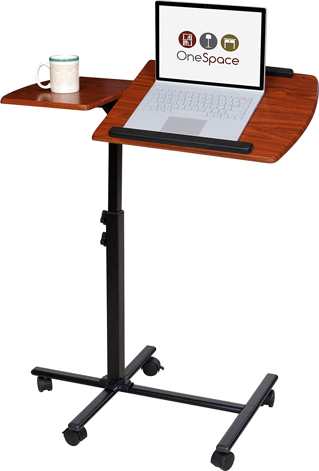Amazon.com: OneSpace 50 JN01 Angle And Height Adjustable Mobile Laptop Computer  Desk With Dual Surface, Cherry: Kitchen U0026 Dining