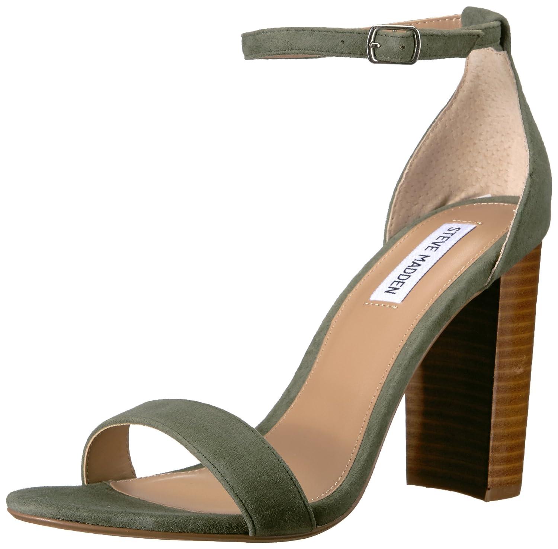Steve Madden Women's Carrson Dress Sandal B07BKJWB4Z 9.5 B(M) US|Olive Multi