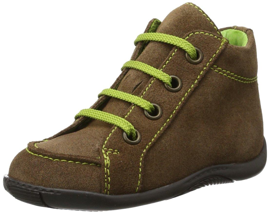 Däumling Timmy - Zapatos Para Gatear de cuero bebé, color marrón, talla 18