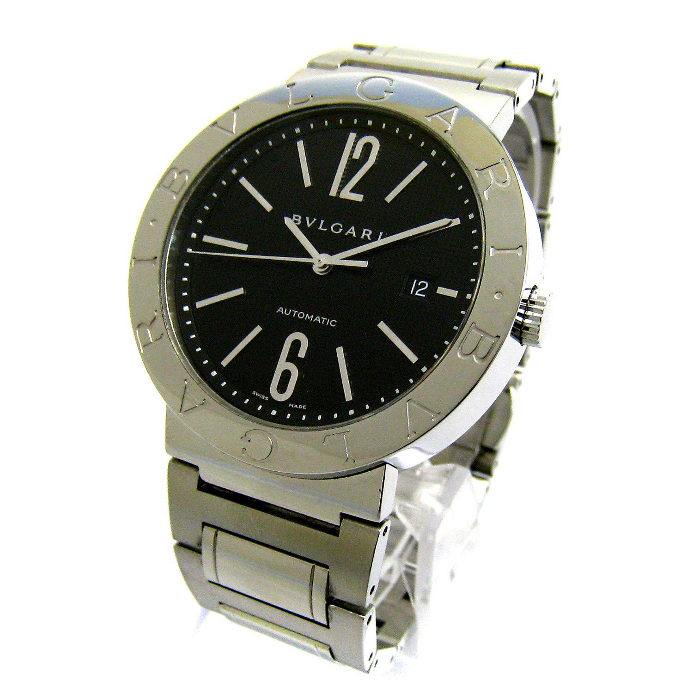 [ブルガリ]BVLGARI 腕時計 BB42SS BB42BSSD ブルガリブルガリ オート 黒文字盤 磨き仕上済 メンズ 中古 B07DC28L3Y