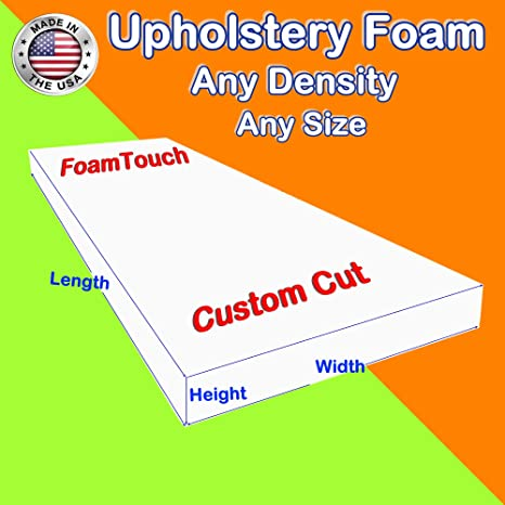 Custom Cut Tier 25 Upholstery Foam Cushion Any Density Seat Replacement, Upholstery Sheet, Foam Padding
