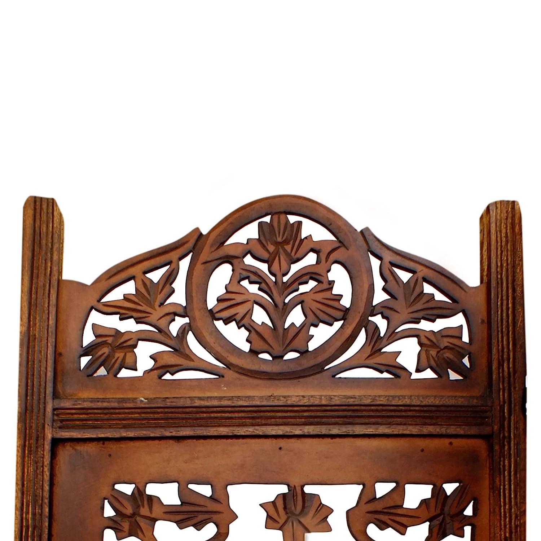 Amazon.com: Benzara Handcrafted Wooden 4 Panel Room Divider ...
