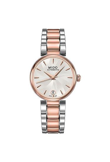 Mido mujer-reloj de pulsera analógico con revestimiento de acero rhöna M0222072203110