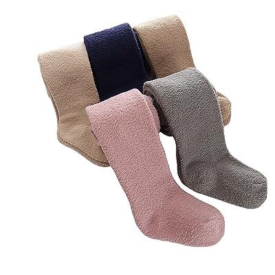 5-Pair-Pack Baby Girls Coral Velvet Pants Tights Leggings Stockings Pantyhose