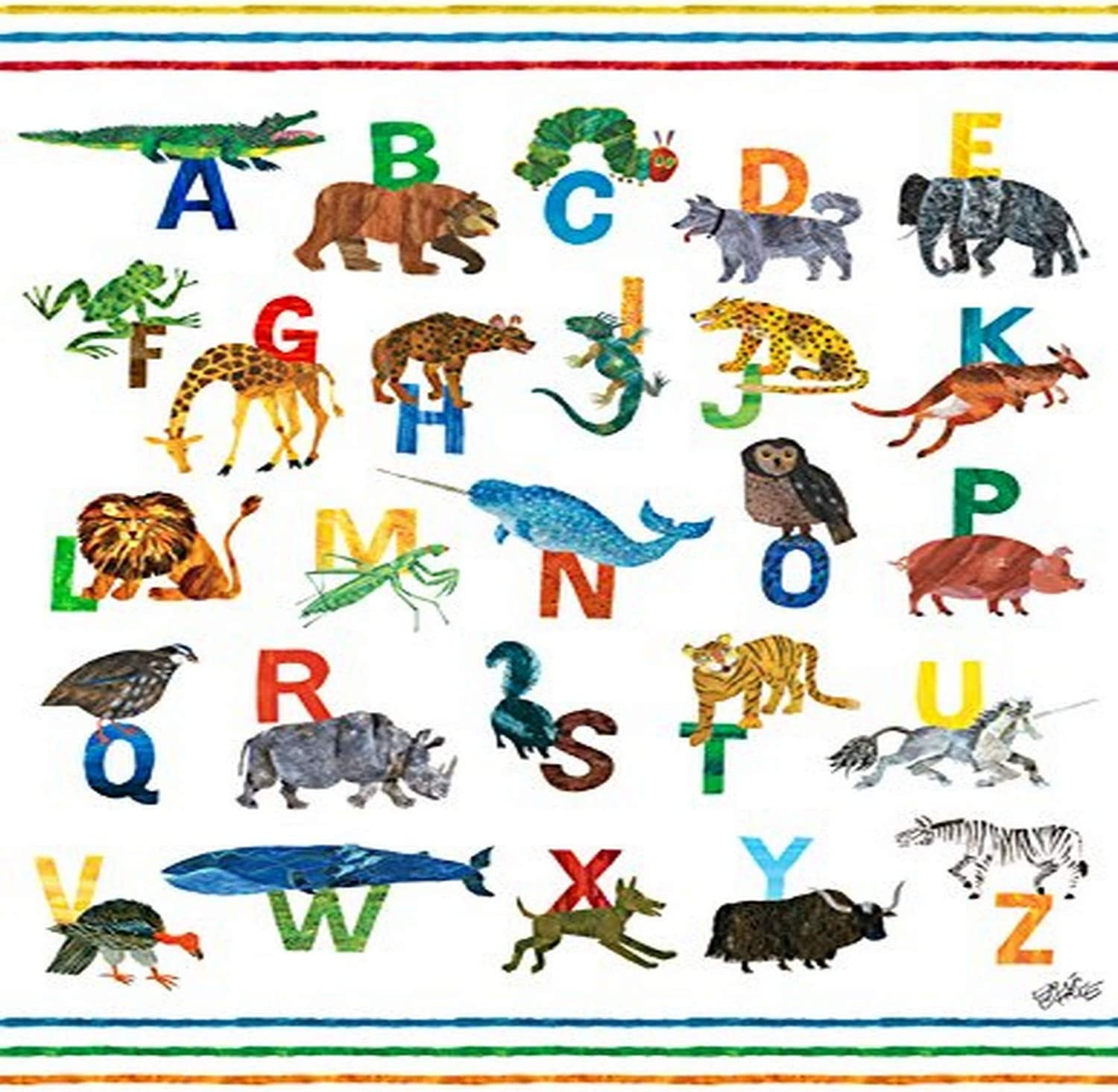 Oopsy Daisy Fine Art For Kids Eric Carle S Abc S Boy Canvas Wall Art By Eric Carle 14 X 18 Posters Prints Amazon Com