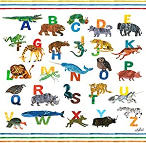 Oopsy Daisy Fine Art for Kids Eric Carle's Abc's Boy Canvas Wall Art by Eric Carle, 14 x 18