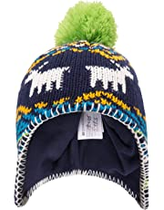 0f944838558 Mountain Warehouse Moose Fairisle Junior Knitted Trapper Hat - Fleece Lined  Kids Beanie