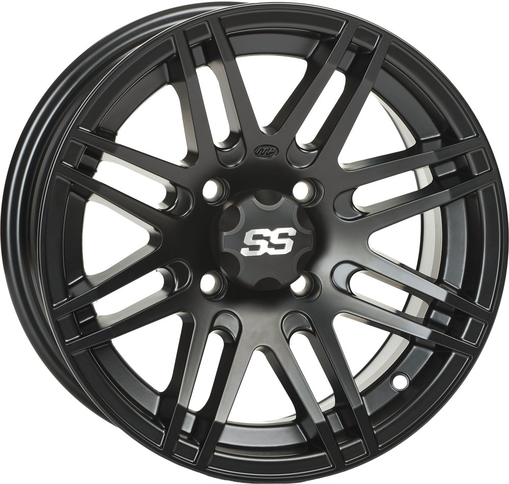 ITP SS ALLOY SS316 Matte Black Wheel with Machined Finish (12x7''/4x110mm) by ITP