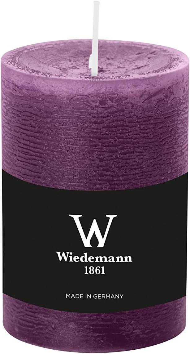 violett INNA-Glas Set 2 x Stumpenkerze 100h Made in Gerrmany Wachskerze Aurora /Ø 9,8cm 14cm