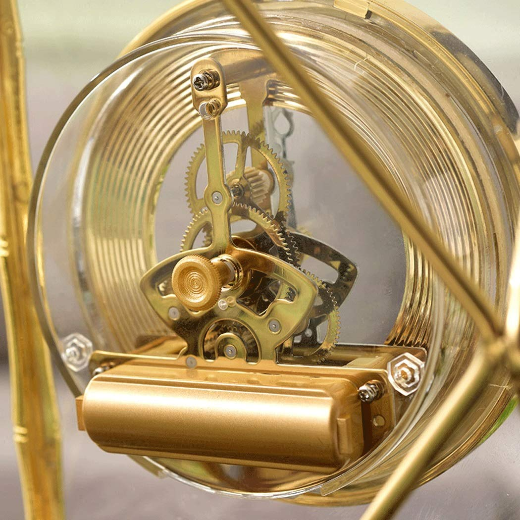 HONGNA Table Gear Rotating Clock Clock Seat Living Room Bedroom Clock Decoration Creative Retro Table Clock Titanium Body (Size : 17227.5cm) by HONGNA (Image #5)