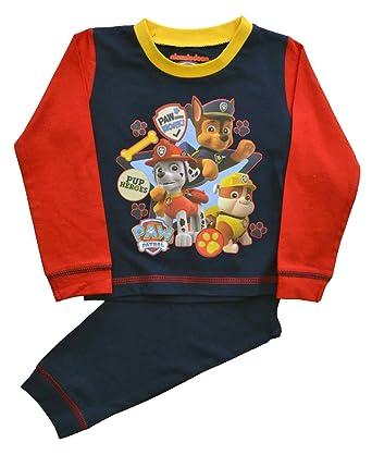 Paw Patrol - Pijama dos piezas - Manga Larga - para niño Rojo rosso 2 años: Amazon.es: Ropa y accesorios