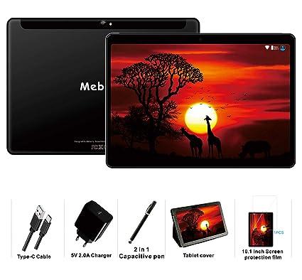 MEBERRY Tablet 10 Pulgadas Android 9 Pie Ultrar-Rápido Tablets 4GB RAM + 64GB ROM - Certificación Google GSM - 4G Dual SIM - 8000mAh ...