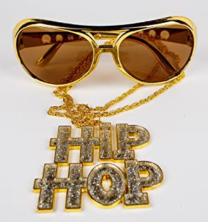 Hip hop goldkette  Panelize® Rapper Hip Hop Mega Set - HipHop Kette und schwere ...