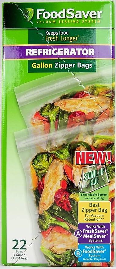 Amazon Com Foodsaver Fsfrbz0326 Freshsaver 1 Gallon Zipper Food