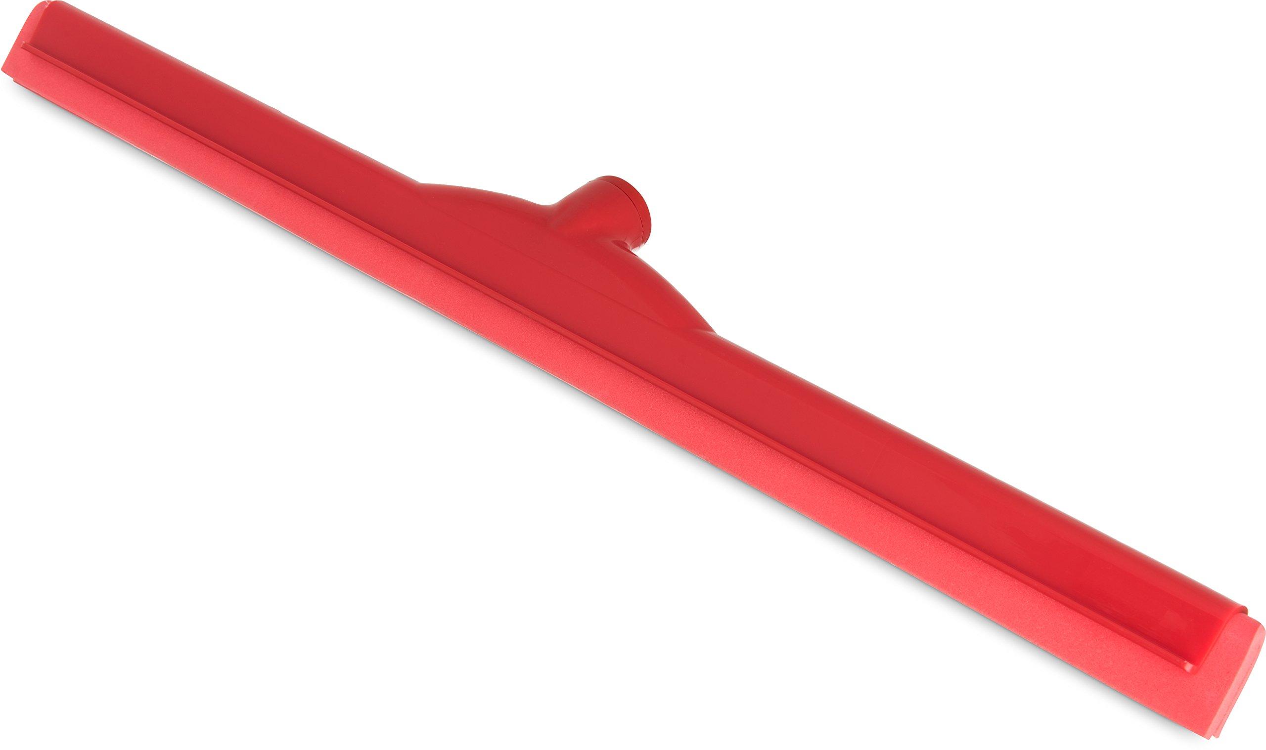 Carlisle 4156805 Spectrum Double Foam Rubber Floor Squeegee, 24'' Width, Red (Case of 6)