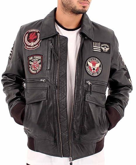 5b79b21f560 Aviatrix Mens Boys USA Hawk Pilot Air Force Flying Bomber Jacket  Amazon.co. uk  Clothing