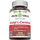 Amazing Formulas Acetyl L-carnitine 500 Mg 120 Vcaps - Mitochondrial Energy Optimizer