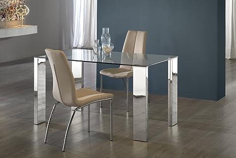 Schuller - Tavoli da Pranzo Moderne - Malibu Acciaio 140 ...