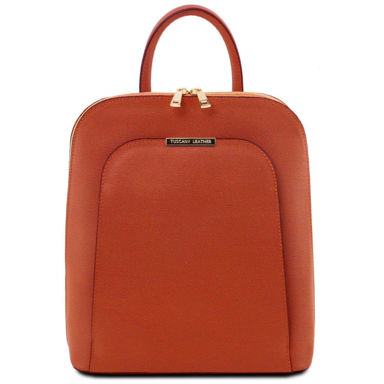 Tuscany Leather TL Bag Damenrucksack aus Saffiano Leder - TL141631 (Brandy)