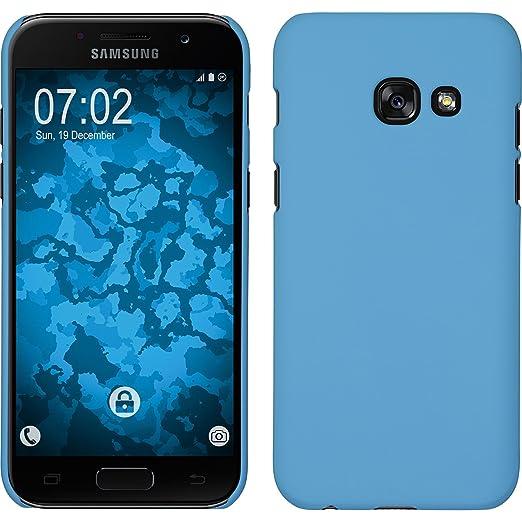 2 opinioni per Custodia Rigida per Samsung Galaxy A3 2017- gommata azzurro- Cover PhoneNatic +