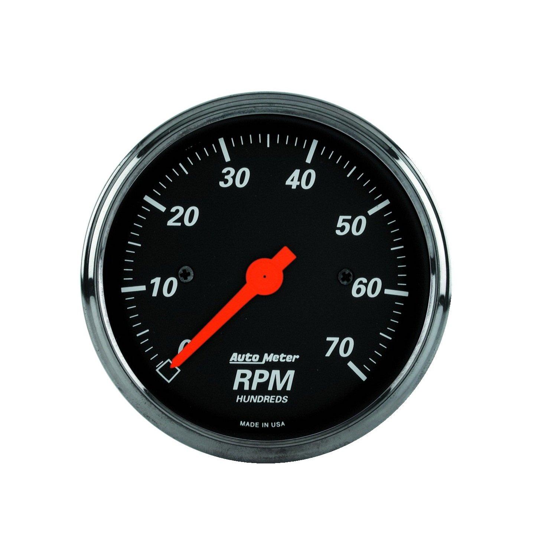 Auto Meter 1498 Designer Black Dash Electric Tachometer