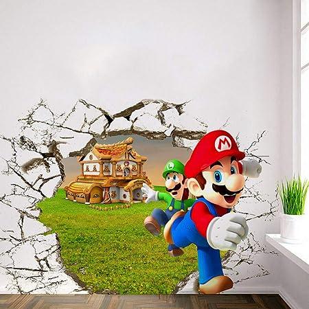 Adesivi Murali Super Mario Bros.Decorazioni Per La Camera Dei Bambini Anime Poster Super