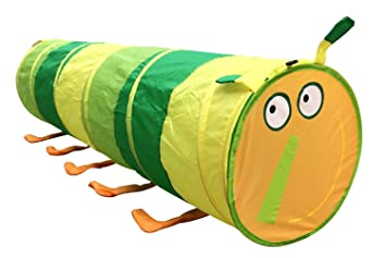 Happy Face Caterpillar Tunnel Kids Play Tent by POCO DIVO  sc 1 st  Amazon.com : tunnel play tent - memphite.com