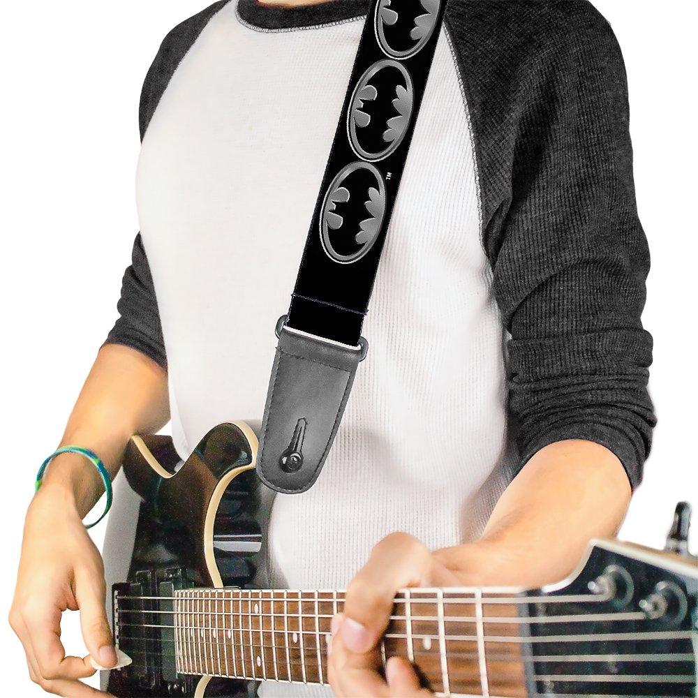 Buckle-Down Guitar Strap - Batman Shield Black/Yellow - 2 Wide - 29-54 Length Buckle-Down Pet Products GS-WBM001